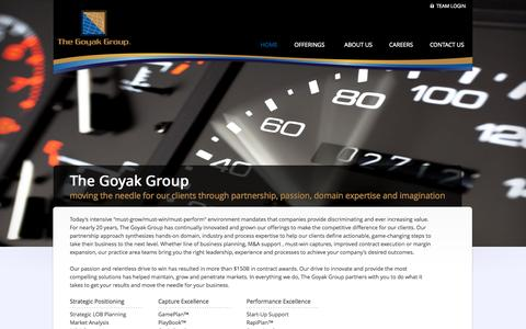 Screenshot of Testimonials Page goyak.com - The Goyak Group | Your Competitive Edge - captured Oct. 6, 2014