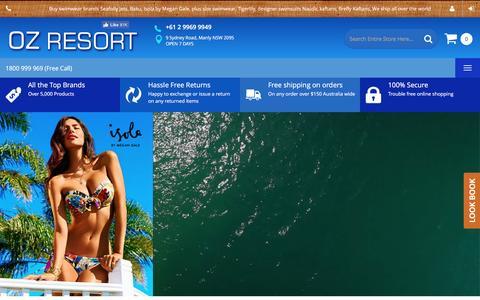 Screenshot of Home Page ozresort.com.au - Home page - captured Dec. 1, 2016