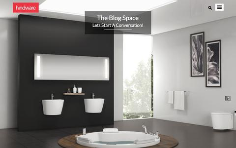 Screenshot of Blog hindwarehomes.com - Hindware Connect | Blog Initiative By Hindware - captured Sept. 18, 2016