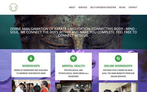 Screenshot of Services Page anandkoti.com - Our Services – Meditation | Karate | Self-Defense | Anand Koti - captured Nov. 6, 2018