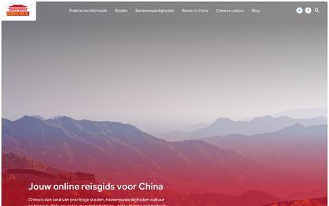 Screenshot of Home Page bezoekchina.nl - China praktische info, steden en bezienswaardigheden - captured Nov. 13, 2018