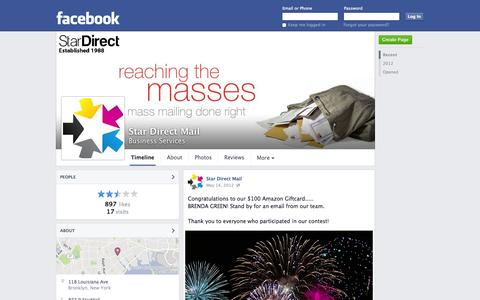 Screenshot of Facebook Page facebook.com - Star Direct Mail - Brooklyn, New York - Business Services | Facebook - captured Oct. 26, 2014