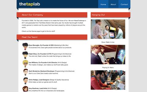 Screenshot of About Page thetaplab.com - Our Company | The Tap Lab - captured Oct. 18, 2018
