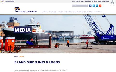 Screenshot of Press Page williams-shipping.co.uk - Media - Logos & Brand Guidelines | Williams Shipping - captured Dec. 12, 2016