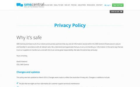 Privacy Policy | SMS Central | Bulk SMS Services Australia