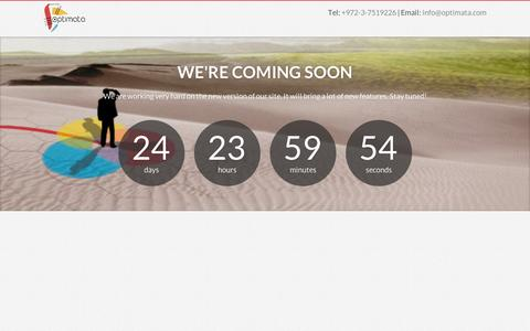 Screenshot of Home Page optimata.com - Optimata - Better Care. Faster. - captured Sept. 11, 2014