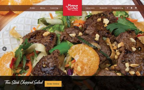Screenshot of Menu Page mamafus.com - Menu - Mama Fu's Asian House - captured Feb. 2, 2019