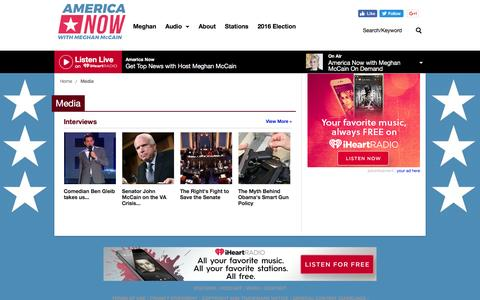 Screenshot of Press Page iheart.com - Get Top Podcasts, Interviews & Videos from America Now - captured Dec. 24, 2016