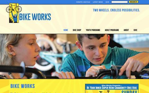 Screenshot of Home Page bikeworks.org - Welcome to Bike Works - Bike Works - captured June 1, 2017