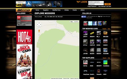 Screenshot of Maps & Directions Page imodify.com.au - Explore Modders | iMODIFY - captured Oct. 6, 2014