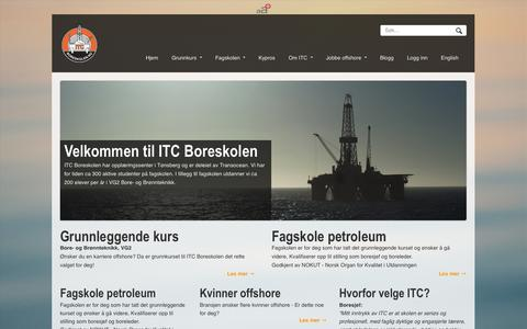 Screenshot of Home Page boreskolen.no - Velkommen til ITC Boreskolen | BoreskolenBoreskolen - captured Oct. 6, 2014