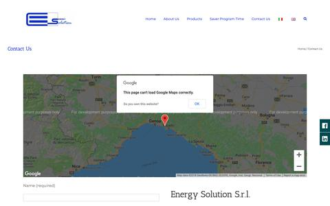 Screenshot of Contact Page energy-solution.it - Contact Us - Energy Solution - captured Sept. 28, 2018