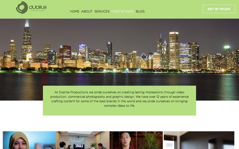 Screenshot of Case Studies Page dublite.com - Dublite  Video Production & Photography Chicago | Dublite Productions - captured July 21, 2019