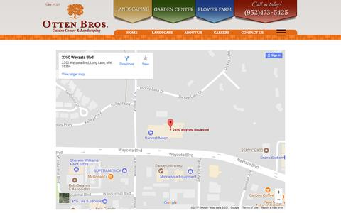 Screenshot of Maps & Directions Page ottenbros.com - Map - Otten Bros. - captured Oct. 25, 2017