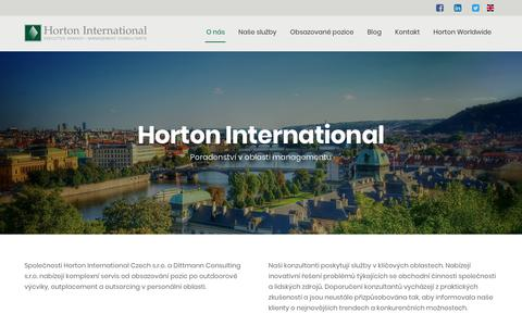 Screenshot of Home Page horton-intl.cz - Horton International Czech s.r.o. - captured Sept. 29, 2018