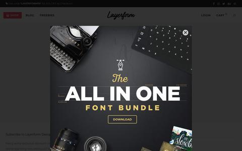 Screenshot of Login Page layerform.com - My account - Layerform Design Co - captured Sept. 24, 2018