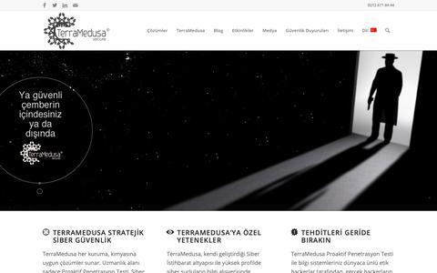 Screenshot of Home Page terramedusa.com - TerraMedusa Secure - Stratejik Siber Güvenlik - captured Oct. 20, 2018