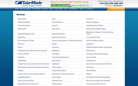 Screenshot of Site Map Page talarmade.com - Sitemap - captured Oct. 9, 2014