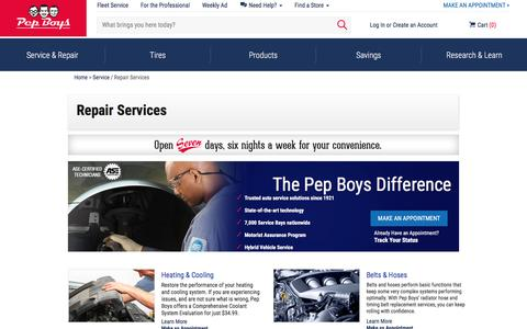 Auto Repair Services | Car & Truck Repair Shops | Pep Boys