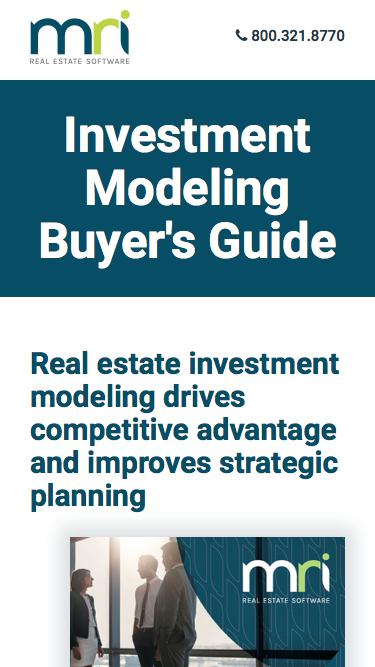 Investment Modeling Buyer's Guide