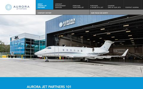 Screenshot of About Page aurorajet.ca - About Us | Aurora Jet Partners - captured Oct. 9, 2017