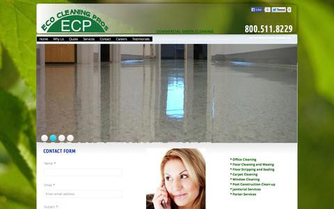 Screenshot of Privacy Page Contact Page ecocleaningpros.com - Eco Clean Pros in Cherry Hill, Nj : Contact - captured Oct. 27, 2014