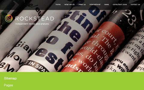 Screenshot of Site Map Page rockstead.co.uk - sitemap » Rockstead - captured Dec. 13, 2018