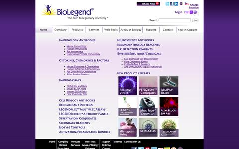 Screenshot of Products Page biolegend.com - BioLegend Product Pages - captured Sept. 22, 2014