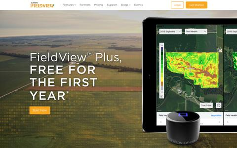 Screenshot of Trial Page climate.com - FieldView™ Plus, Free for the First Year - captured Sept. 23, 2018
