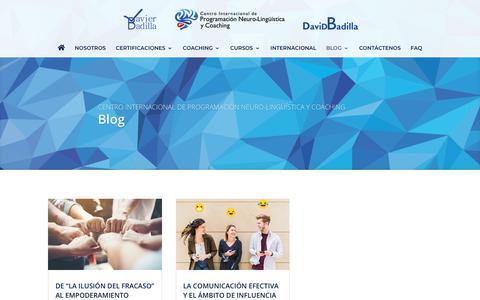 Screenshot of Blog javierbadilla.com - Blog   Javier Badilla   Centro Internacional de PNL y Coaching - captured Oct. 29, 2018