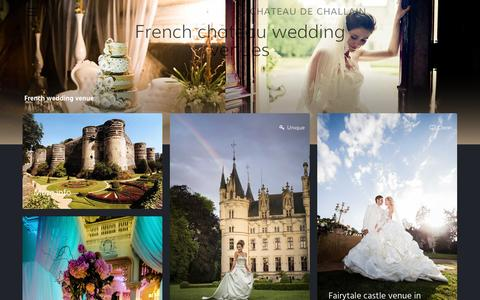 Screenshot of Home Page french-chateau-weddings.com - French wedding venues,destination weddings - captured March 27, 2016