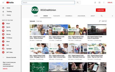 DCUCreditUnion - YouTube - YouTube