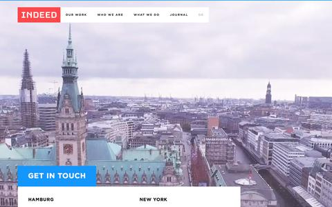 Screenshot of Contact Page indeed-innovation.com - Contact us: INDEED Hamburg | Innovation Development - captured Oct. 15, 2017