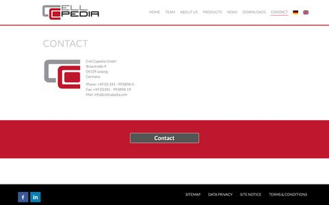 Screenshot of Contact Page cellcopedia.com - Contact -  Cell.Copedia - captured Sept. 27, 2018