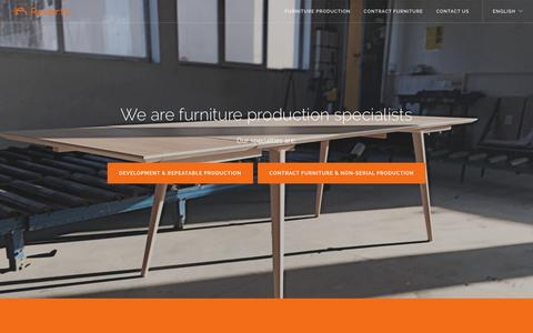 Screenshot of Home Page reverto.eu - Reverto | A furniture production arm from Poland - captured Dec. 18, 2016