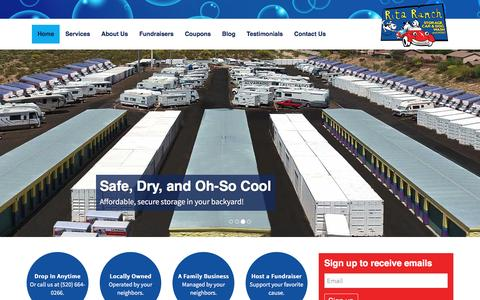 Screenshot of Home Page ritaranch.net - Rita Ranch Storage Car & Dog Wash - Tucson, AZ - captured Nov. 30, 2016