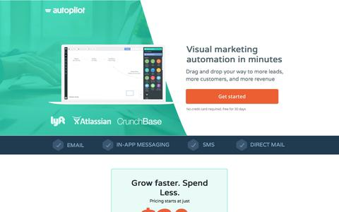 Screenshot of Landing Page autopilothq.com - Visual Marketing Automation | Autopilot - captured July 4, 2017