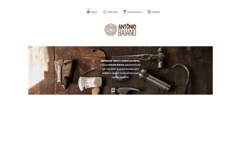 Screenshot of Home Page antoniobaiano.com.br - Ant么nio Baiano - captured Feb. 6, 2016