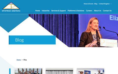 Screenshot of Blog informed.com - Blog | Informed Solutions - captured Oct. 11, 2018