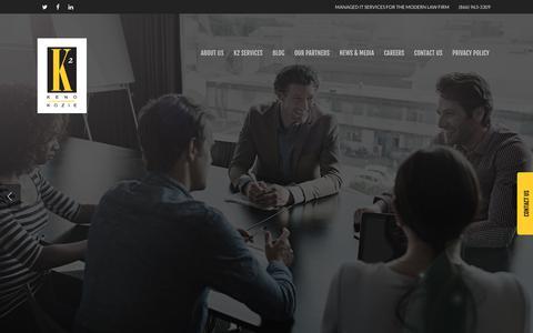 Screenshot of Home Page kenokozie.com - Home - Keno Kozie Associates - captured Oct. 17, 2017