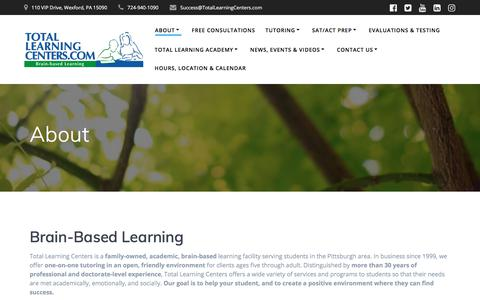 Screenshot of About Page totallearningcenter.com - About | Total Learning Centers - captured Nov. 14, 2019