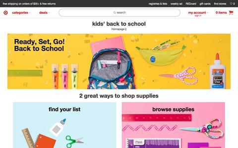 Screenshot of target.com - Back to School : Target - captured July 2, 2017