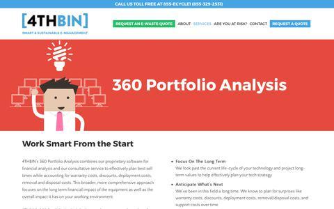 Screenshot of Services Page 4thbin.com - 360 IT Portfolio Analysis, IT Portfolio Manager | 4THBIN - captured June 16, 2017