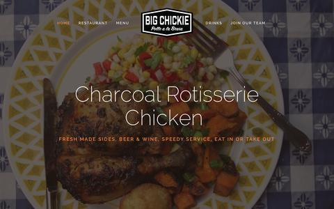 Screenshot of Home Page bigchickie.com - Big Chickie | Pollo a la Brasa - captured June 17, 2015