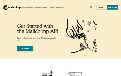 Screenshot of Developers Page mailchimp.com - Developer - captured Sept. 18, 2019