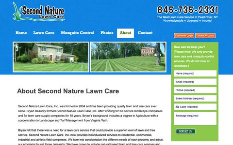 Screenshot of About Page secondnaturelawncare.com - Lawn service, tree and shrub care serving Rockland, Westchester, Orange NY and Bergen NJ - captured Oct. 18, 2018