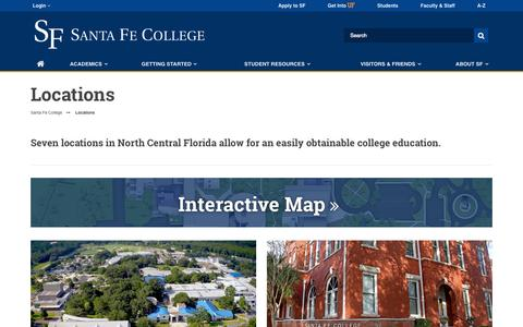 Screenshot of Locations Page sfcollege.edu - Locations - captured Nov. 18, 2015
