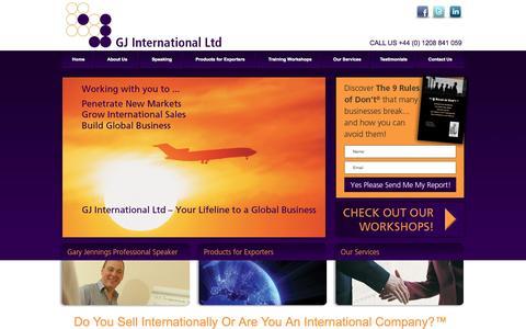 Screenshot of Home Page gj-intl.com - GJ International Ltd - captured Oct. 1, 2014