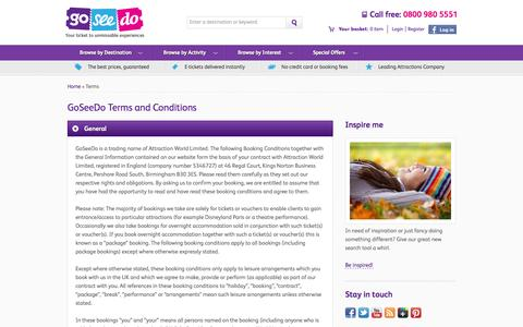 Screenshot of Terms Page goseedo.com - GoSeeDo -      Terms and Conditions - captured Oct. 8, 2014