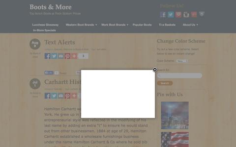 Screenshot of Blog bootsandmore.net - Boots & More - captured Sept. 13, 2015